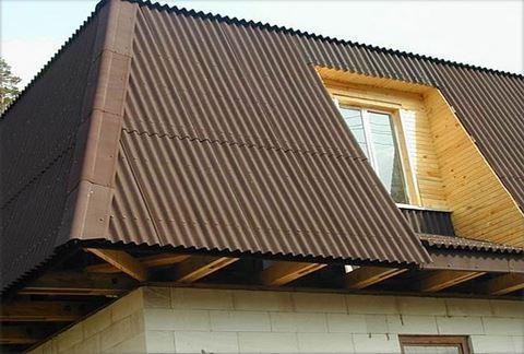 еврошифер-ондулин коричневый в Минске